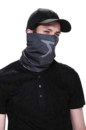 Seamless Scarf Warm Face Mask Neck Gaiter Bandana Headwear for Outdoor - Watch Dogs Aiden Pearce