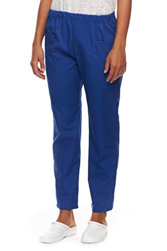 Mazalat pantalon medicale pour femme pantalon à enfiler avec ceinture élastique pantalon op pantalon hôpital clinique boulanger travail soins pantalon de travail femme vêtements médicaux