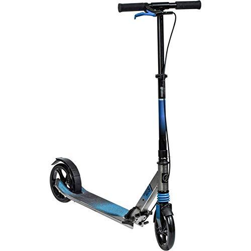 K&G Luxuriöser Faltbarer City Kick Scooter Für Kinder Im Alter Von 6-14 Jahren, Höhenverstellbares Roller-Leichtgewicht-Aluminium-kickboard Mit 2 Großen Rädern Und Maximaler Last 100kg,Blue
