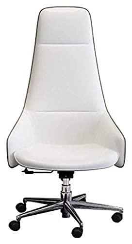JIAH Silla de oficina ergonómica de respaldo alto para el hogar o la oficina reclinable con reposapiés de cuero de la PU