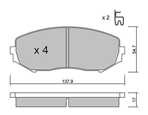 metelligroup 22-0766-0 - Pastiglie Freno anteriori