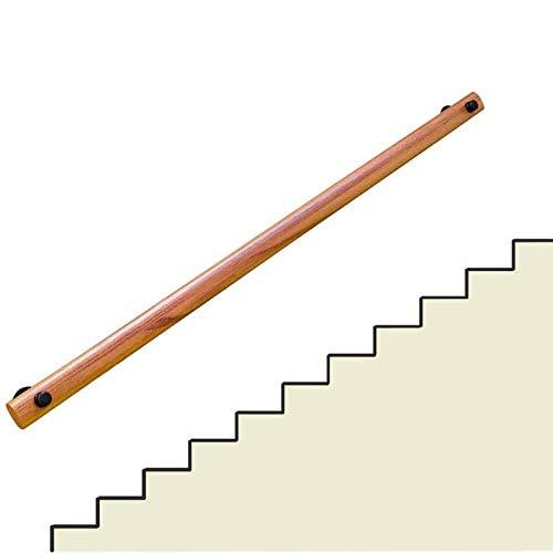 GJFF Escalera de la Escalera Pasada de pasamanos Subding Stair Barandillas de Madera Handrail, Caja Fuerte de la Escalera de Madera sólida, barandilla Antideslizante de Pino, fácil instalación