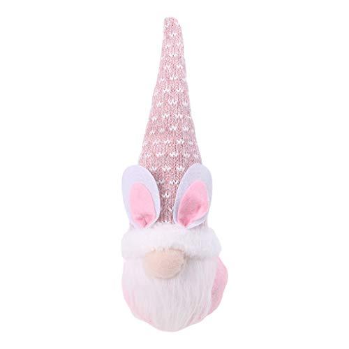 Boji Conejo de Pascua, gnomo, decoración, muñecos de Navidad, elfos de Pascua, gnomos hechos a mano, peluches, adornos, primavera, niños, Pascua, regalos, casa de vacaciones, decoración del hogar
