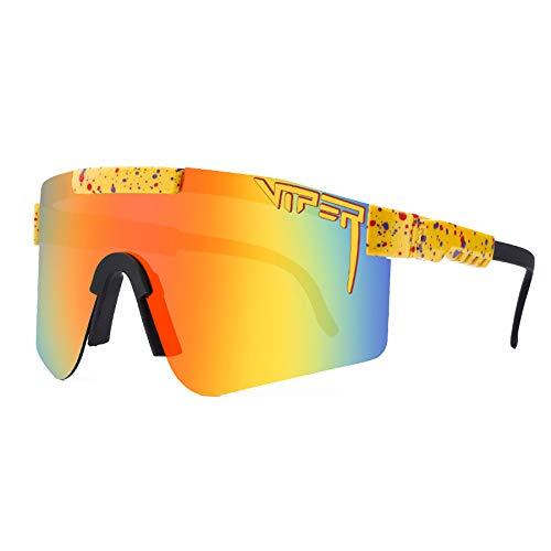 LDFANG Gafas de Sol Deportivas polarizadas para Mujeres Hombres Ciclismo Correr Conducción Gafas de protección UV