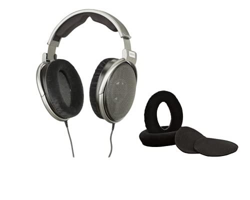 Digital DJ Gear Pacote para fones de ouvido Sennheiser HD650 com protetores de ouvido de veludo Dekoni Audio
