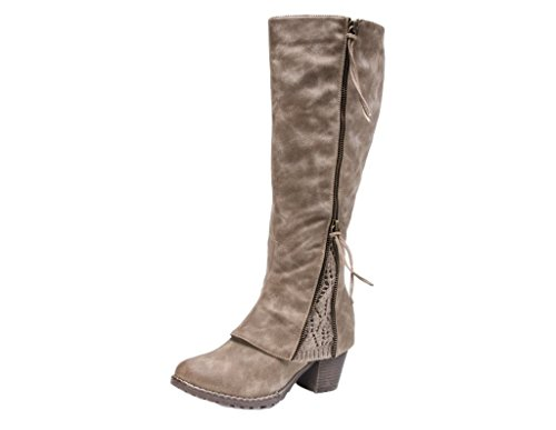 MUK LUKS Women's Lacy Boots - Taupe,10