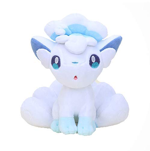 GHJU Plush Toys Soft Toys Cartoon Ninetales & Vulpxi Soft Stuffed Dolls Figures Alola Vulpix Cuddly Toys Kids 25 Cm QingQiao