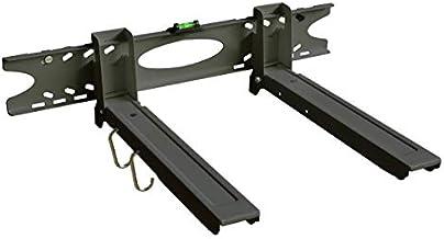 DRALL INSTRUMENTS Soporte Universal de Montaje en Pared Cajas de bocinas para microondas Bluray Media Player Blanco Negro Plata Modelo: H75VA, Color:Negro