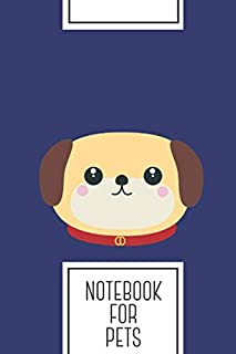 """Notebook for Pets: Lined Journal with Cute puppy Dog with red collar Design - Cool Gift for a friend or family who loves funny presents! 