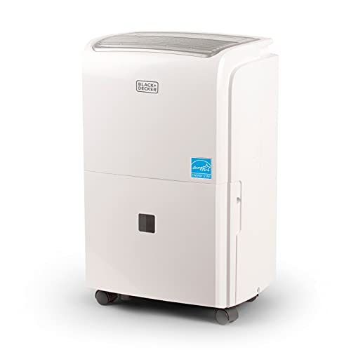 BLACK+DECKER 1500 Sq. Ft. Dehumidifier for Medium to Large Spaces and Basements, Energy Star Certified, Portable, BDT20WTB