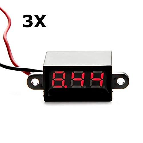 Modul-Kits 3.5-30V Digital Spannungs Tester Meter 3Pcs rote LED 0,28 Zoll Mini wasserdicht Volt meterr für Arduino und andere Mikrocontroller