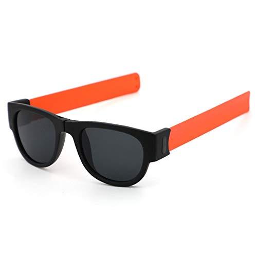 Yi-xir Diseño de moda plegable pulsera deportiva gafas de sol para mujer, gafas de sol para hombres dobles, gafas de sol perfectas clásicas (color del marco: no polarizado)