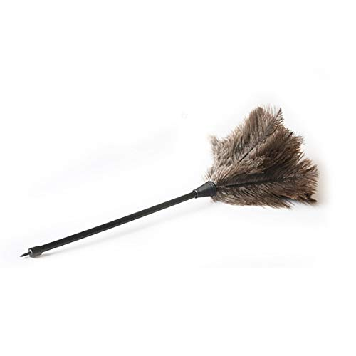 Plumero de plumas de avestruz auténticas calidad premium 34cm- Atrae las partículas de polvo