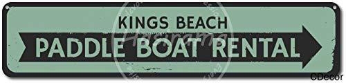 niet Paddle Boot Verhuur Tin Wandbord Metalen Retro Poster Iron Waarschuwingsborden Vintage Opknoping Art Plaque Yard Garden Cafe Bar Pub Openbaar Gift 16X4 Inch