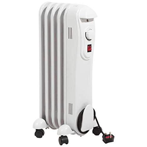 315fn m8FtL. SS500  - Netagon Modern Curved White Electric Portable Oil Filled Radiator Heater with 3 Heat Settings & Adjustable Thermostat (1…