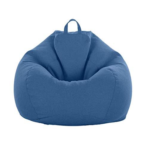 BBGSFDC Indoor- oder Outdoor-Liege-Stühle Decken den modernen minimalistischen Stil aus feinem Baumwoll-Leinenmaterial, dunkelblau, l, Gartenstühle (Color : Almond, Size : Large)