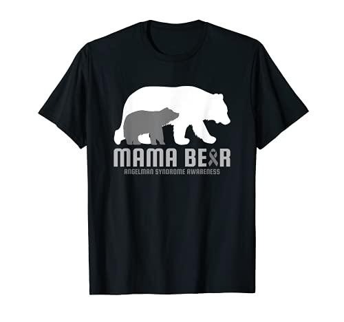 Conciencia del Síndrome de Angelman Enfermedad Cerebral Relacionada Mama Bear Camiseta