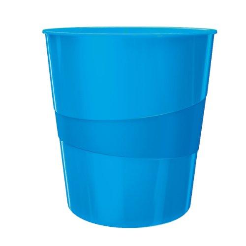Leitz Wow Waste Bin 15L Polystyrol Mülleimer blau – Mülleimer (29 cm, 290 mm, 290 mm, 324 mm, 350 g)