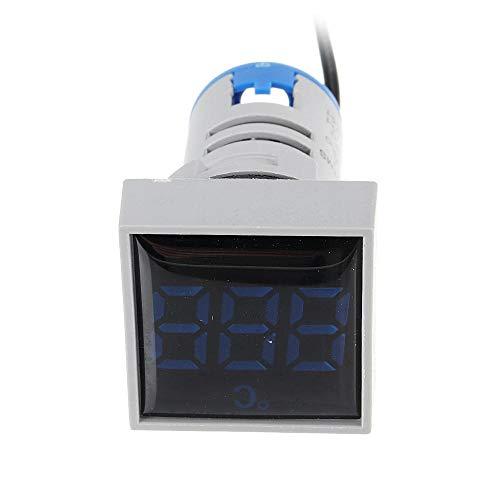 JJBHD Electronic Accessoires & Supplies 3 stücke Mini Crystal Film Square Blau LED Digitales Thermometer Signalleuchte AC 50-380V 220V Temperaturzähleranzeige -10-200 □ mit 1m Sensor Um Ihnen die Qual
