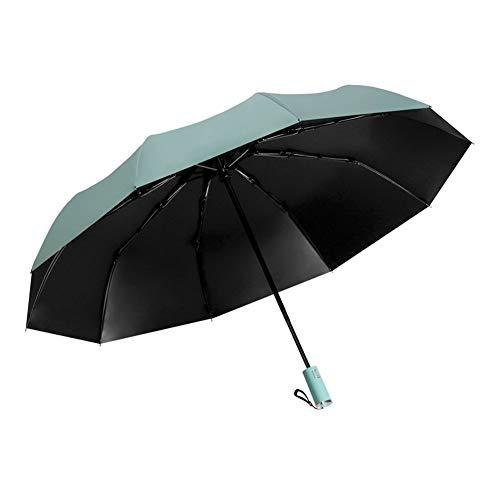 zhoufeng Regenschirme, Gefaltet Business-Männer Automatische Regenschirm Falten Regenschirme Vinyl, Klappbarer tragbarer Reiseschirm (Color : Blue, Size : 105cm)
