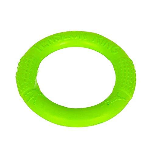 GOUSHENG Frisbees Hond Frisbees Speelgoed Hond Speelgoed Frisbee Pet Pull Ring Grinding Bite Resistant Grote Hond Interactieve Training Pet Supplies Huisdier Speelgoed (Kleur : Oranje, Maat : 27.5Cm.4.8Cm),Groen, 17.5Cm.3.2Cm