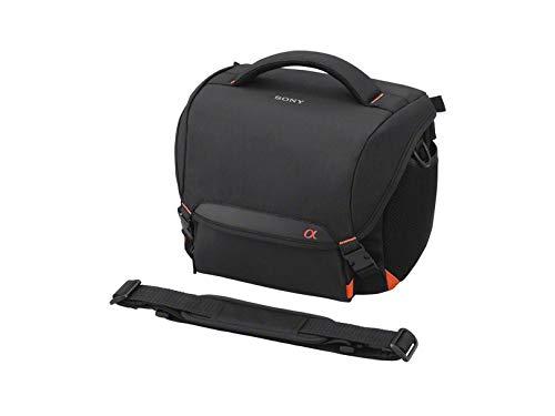Sony LCS-SC8 gepolsterte Tasche für DSLR Kamera mit Zusatzobjektiv, Schwarz
