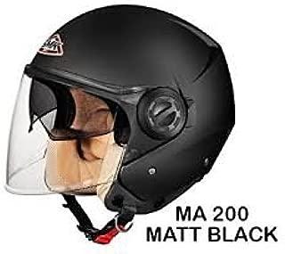SMK Cooper Open Face Duel Visor Designer Helmet , COOPER MATT BLACK MA200 , Matt Black , XL - 61 Cms , Plain Visor