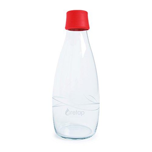 Retap Borosilikatglas Wasser Flasche, 27-Ounce, rot