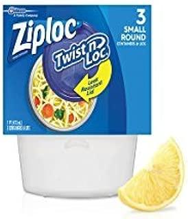Ziploc Twist 'N Loc Containers, Small - 3 ct - 2 pk