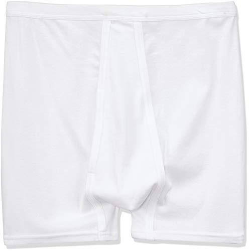 ABANDERADO A0377 Bóxer Clásico Abierto canalé, algodón 100%, Blanco, 52 para Hombre