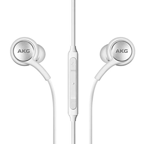 AKG – Auriculares estéreo para Samsung Galaxy S10, S10e S10 Plus, diseño de AKG, color blanco