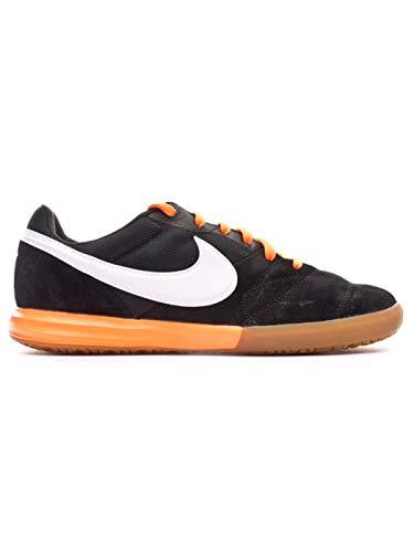 Nike Scarpa Futsal Tiempo Premier II Sala IC 43, Black-White-Total Orange