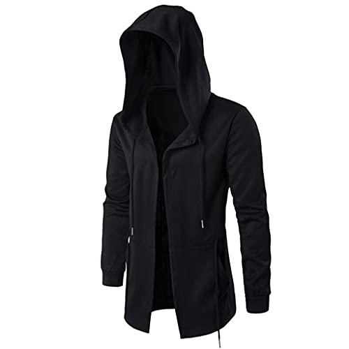 ZLDGYG Sudaderas de diseño largo para hombre con capucha y capucha para hombre (color: A, tamaño: código L: L)
