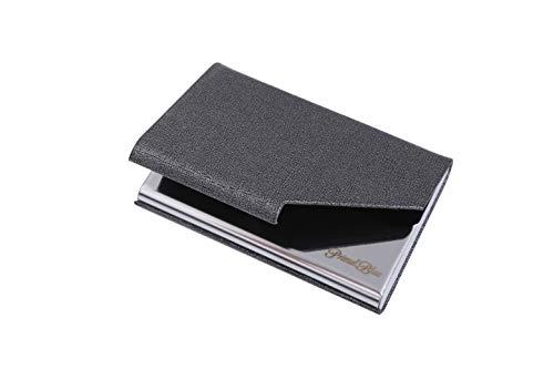 [PrimalBlue]名刺入れ 名刺ケース ビジネス メンズ レディース 兼用 ステンレス カードファイル 名刺が折れない プレゼント (グレー)