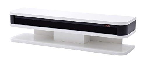 Robas Lund, Lowboard, Fernsehtisch, TV-Schrank, Junior, weiß matt, mit Soundsystem, 151 x 40 x 35 cm, 59132WSS