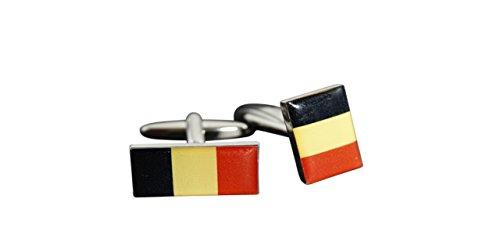 Flaggenfritze® Manschettenknöpfe Fahne/Flagge Belgien