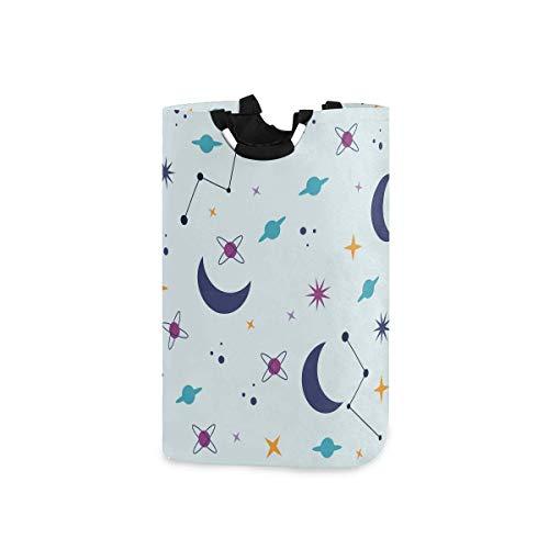 N\A Wäschekorb Faltbarer Eimer kollabiert Wäschekorb Star Moon Waschbehälter für Heimorganisator Kinderzimmer Aufbewahrung Babykorb Kinderzimmer