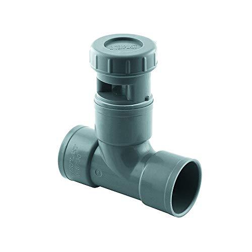 Té anti vide diametre FF 40 mm - Clapet équilibreur de pression d'air - Aérateur à membrane