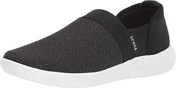 Crocs Women s Reviva Slip On Sneakers Black/White 8