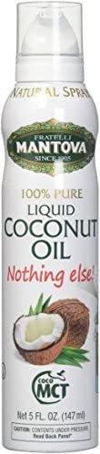 Mantova Coconut Oil 100 Pure Cooking Oil Spray perfect for healthy Keto snacks baking grilling product image