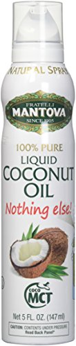 Mantova Coconut Oil, 100% Pure Cooking Oil Spray, perfect for healthy Keto snacks, baking, grilling, seasoning, or cooking, our oil dispenser bottle lets you spray, drip, or stream with no waste, 5 oz