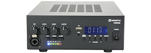 Adastra CM60B 60W Compact 100V 8ohms Mixer Amp Amplifier Bluetooth USB PA System