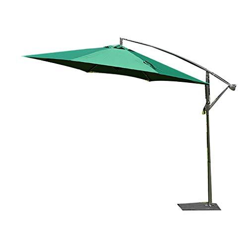 HUAQINEI Ombrello da Esterno Grande/Ombrello da Mercato/ombrellone,Ribaltabile Pieghevole Impermeabile a Prova di UV a sbalzo sfalsato a mensola,con Base a Croce,Semplice ed Elegante Moderno