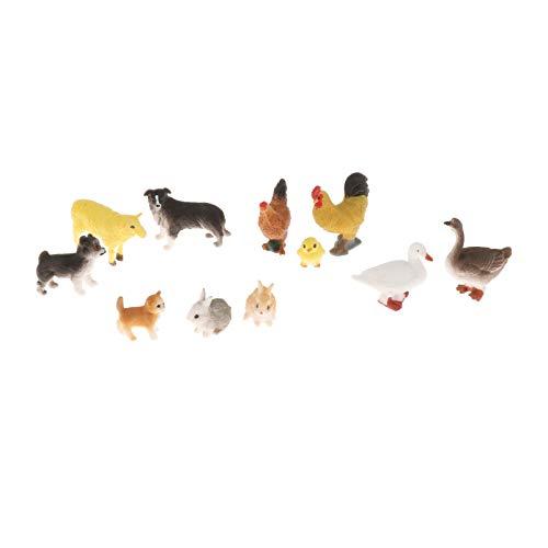 sharprepublic de Acción de Animales de Granja, Figuras de Modelo de Aves de Corral en Miniatura de Plástico, Regalo