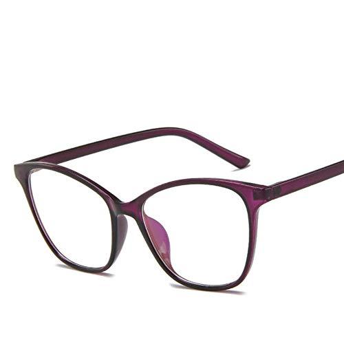 Zbkt BrillenrahmenTransparente klare Brille Brillenfassungen Brillen Herren Brillen, lila