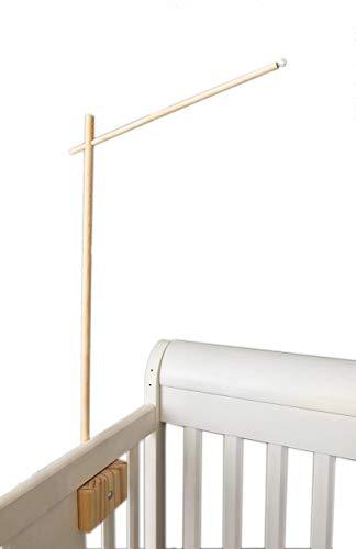 31 inch Wooden Baby Crib Arm by Joey Co, Handmade in The USA, 100% Birchwood, Sleek Scandinavian Design (31 inch)