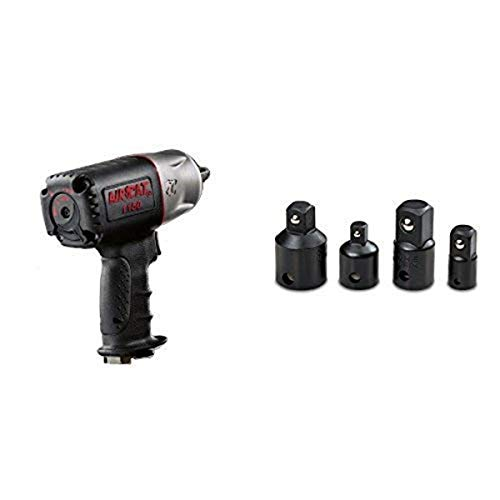 AIRCAT 1150 Killer Torque 1/2-Inch Impact Wrench with TEKTON 4957 Impact Adapter and Reducer Set, Cr-V, 4-Piece
