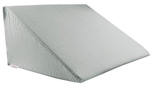 beties Big Comfy Basic Keilkissen Bezug ca. 62x49x30 cm 100% Natur Baumwolle in vielen fröhlichen Unifarben (grau)