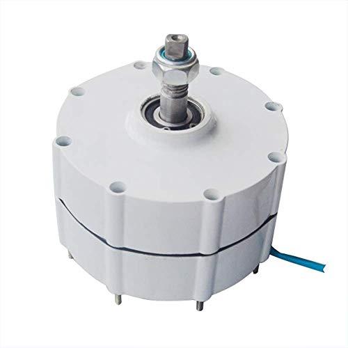 DONGYAO Generador de imanes permanentes sin engranajes de baja velocidad, 600 W, 12 V, 24 V, 48 V, alternadores de CA, uso para turbina de viento, turbina de agua para el hogar (color: 48 V)