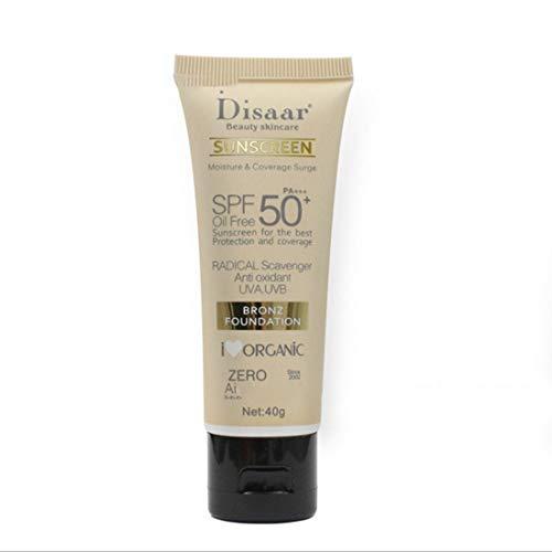 Crema de protección solar para el cuerpo facial Bloqueador solar PA +++ SPF 50+ Cuidado de la piel de belleza Crema de cobertura protectora Hidratante de larga duración - Naranja y blanco